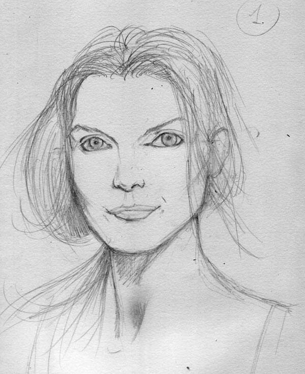 Как нарисовать портрет 7