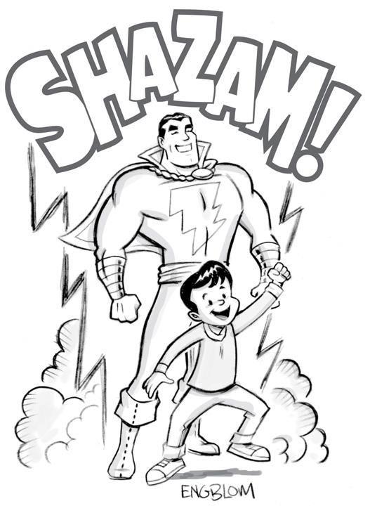 Срисовки Шазама 4