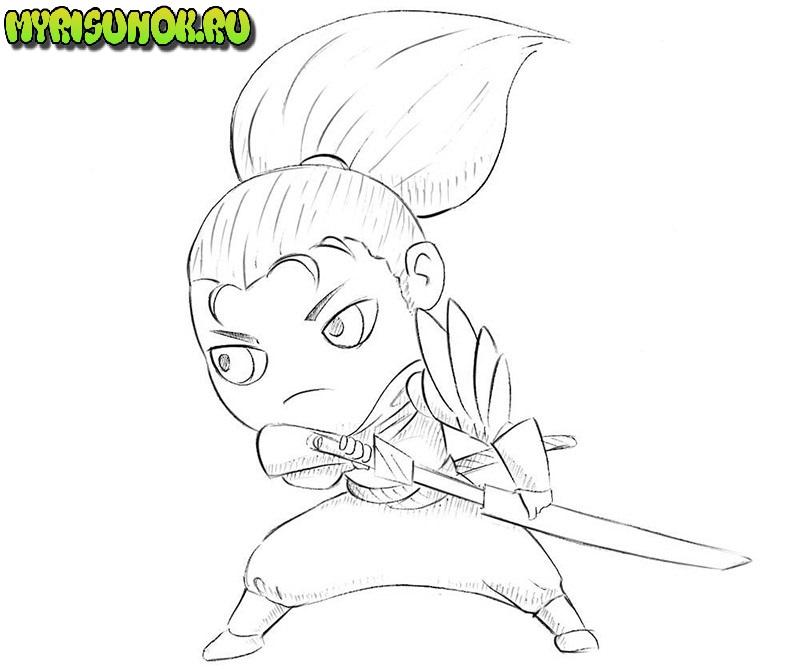 Уроки рисования самурая 6