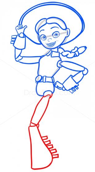 как нарисовать Джесси 10