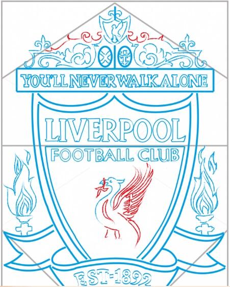 нарисовать логотип Ливерпуля 10