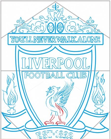 нарисовать логотип Ливерпуля 11
