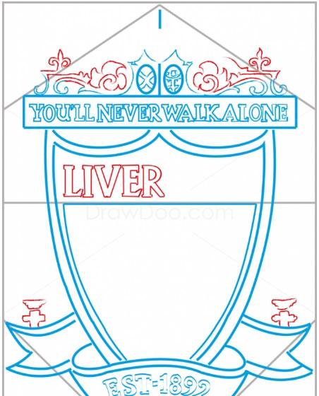 нарисовать логотип Ливерпуля 7