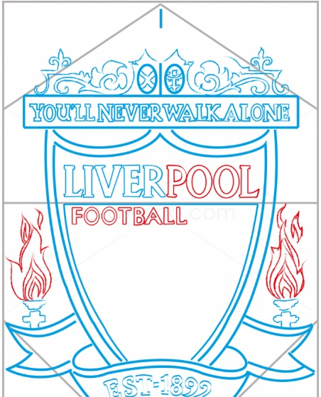 нарисовать логотип Ливерпуля 8