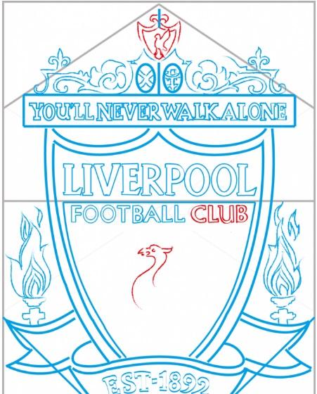 нарисовать логотип Ливерпуля 9