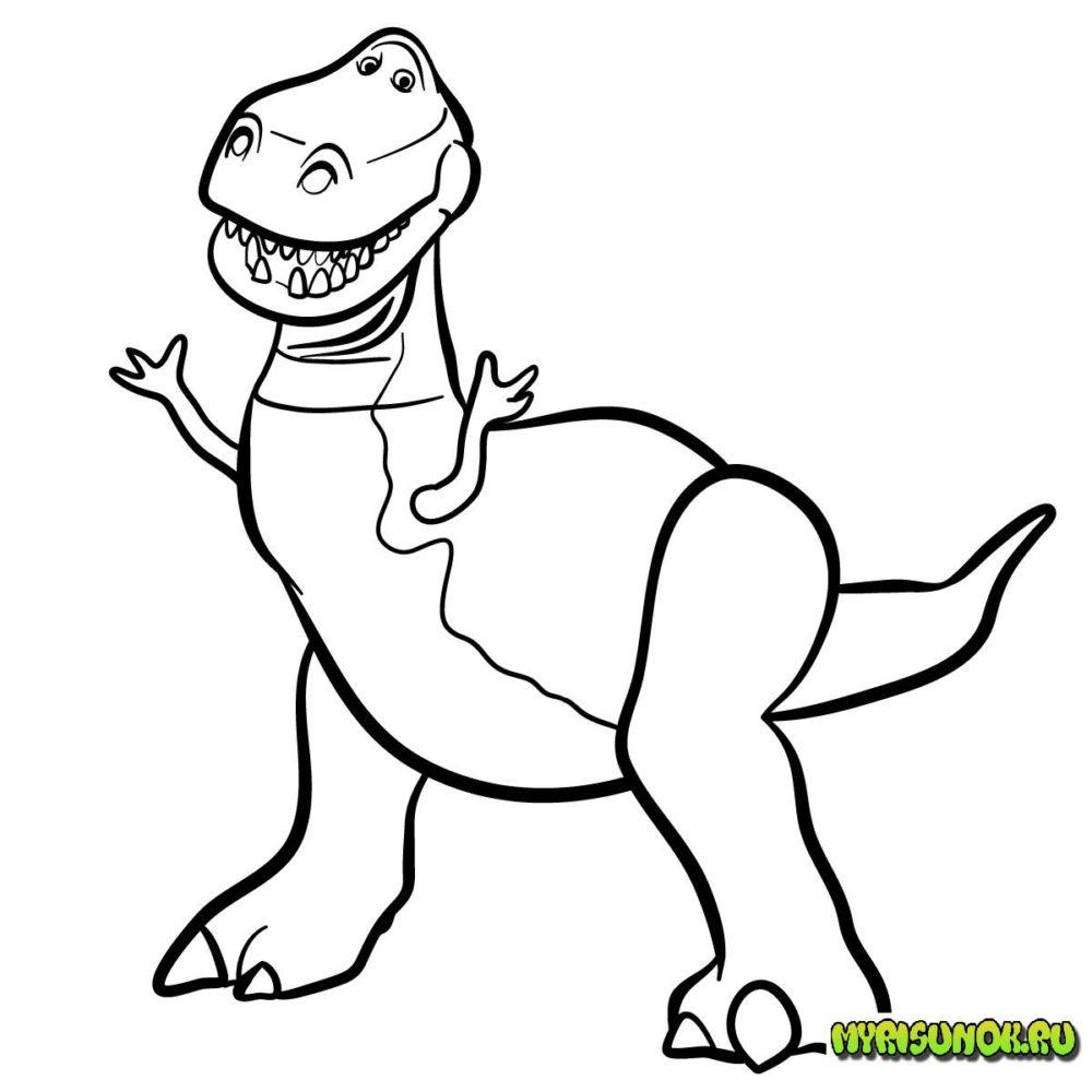 Как нарисовать Рекса История игрушек 12