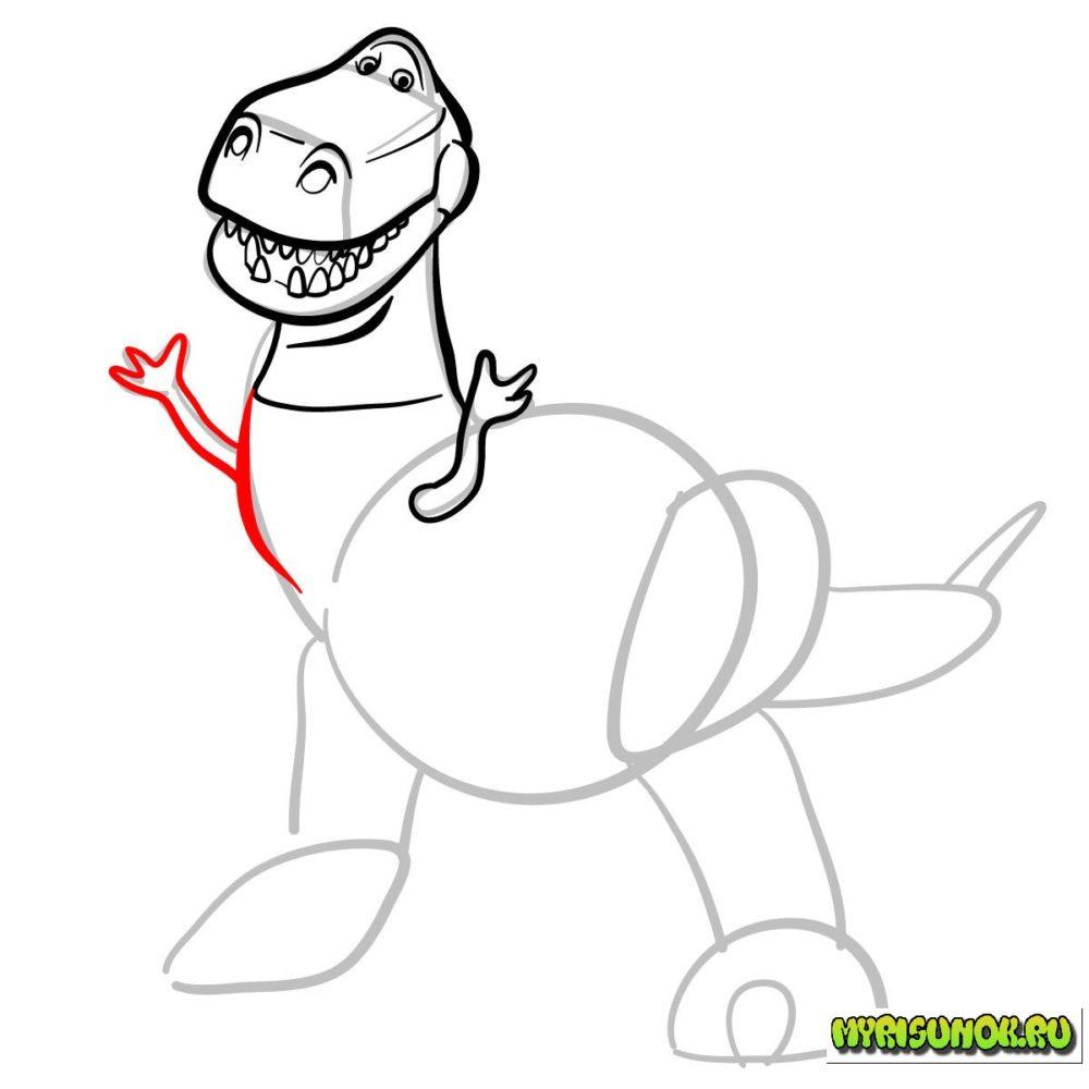 Как нарисовать Рекса История игрушек 7