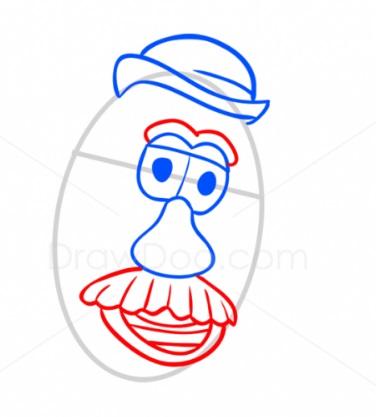 Как нарисовать Картофельную голову 4