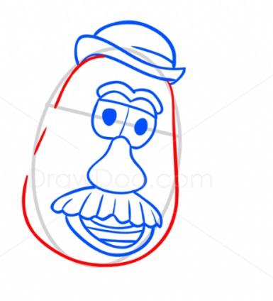 Как нарисовать Картофельную голову 5