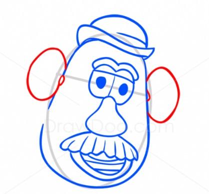 Как нарисовать Картофельную голову 6
