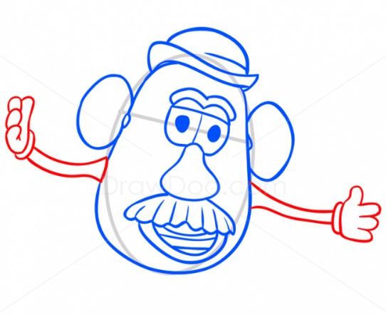 Как нарисовать Картофельную голову 7