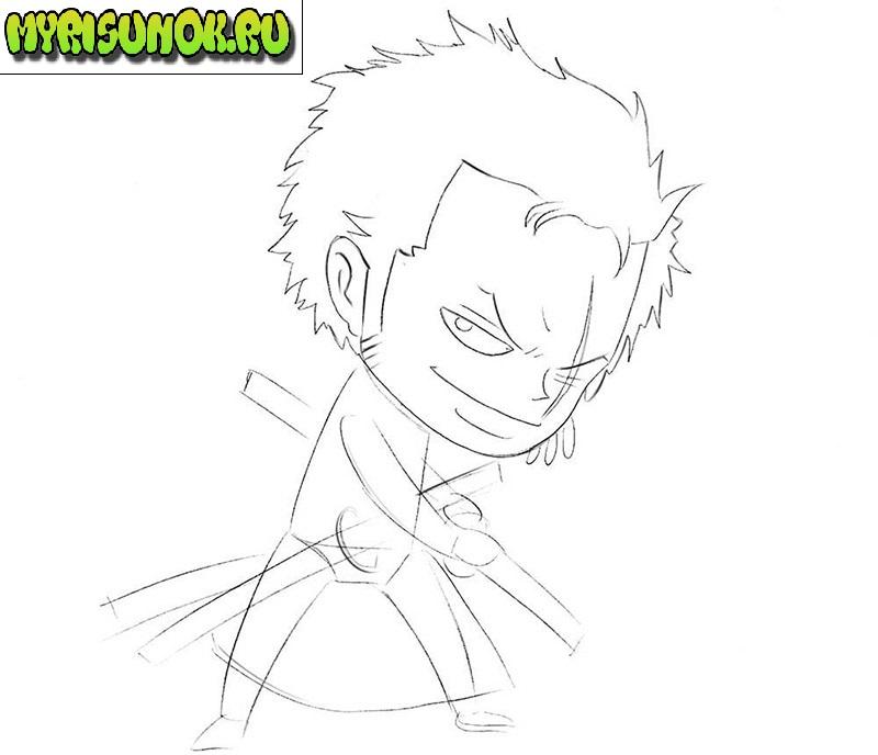 как нарисовать самурая 4
