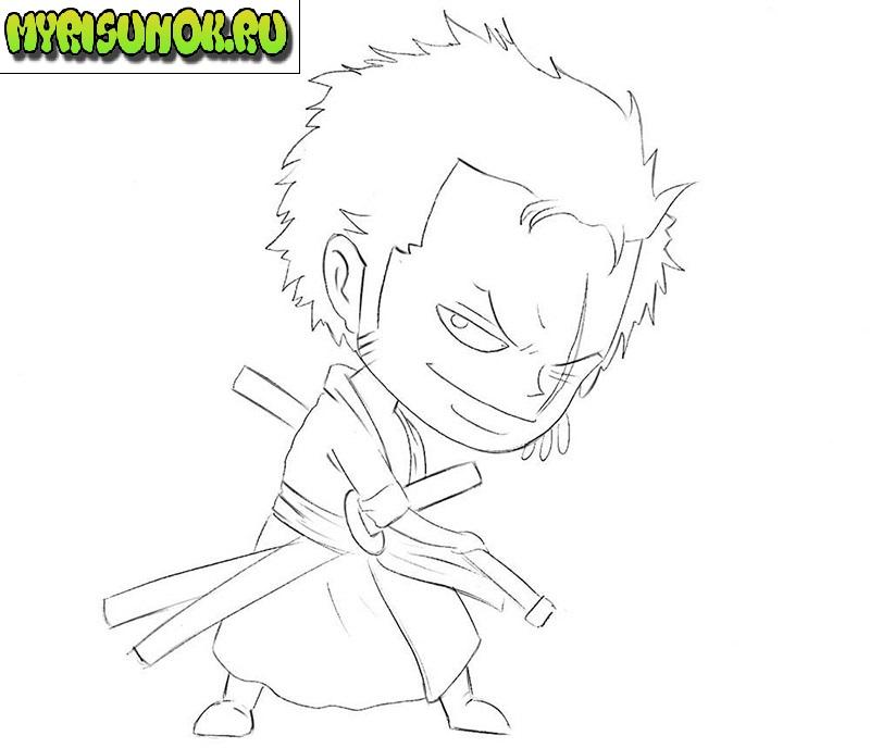 как нарисовать самурая 5