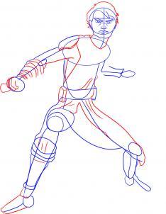 Рисуем Скайуокера 3