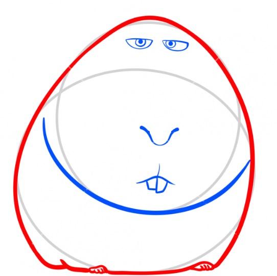 Рисуем свинку Нормана 3
