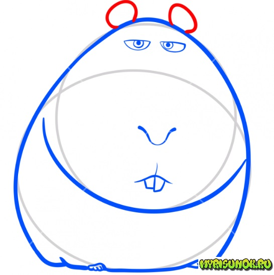 Рисуем свинку Нормана 4