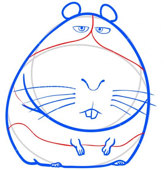 Рисуем свинку Нормана 7