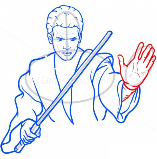 Как нарисовать Энакина Скайуокера 10