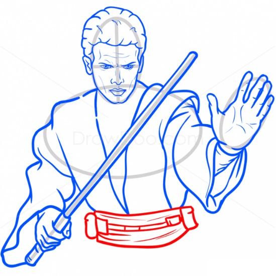 Как нарисовать Энакина Скайуокера 11