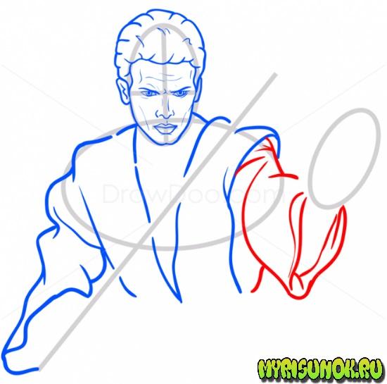 Как нарисовать Энакина Скайуокера 8