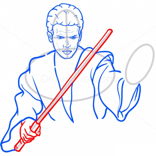 Как нарисовать Энакина Скайуокера 9