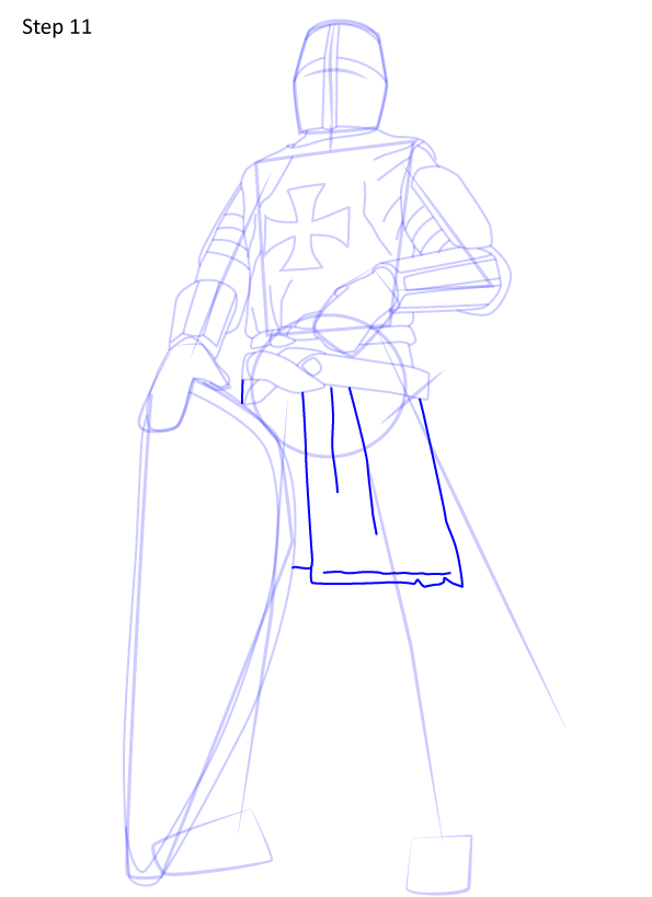 рисуем рыцаря 11