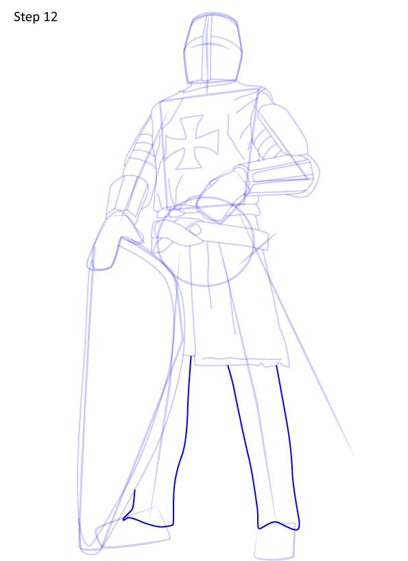 рисуем рыцаря 12