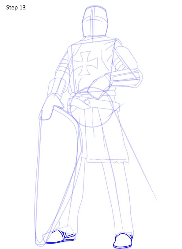рисуем рыцаря 13