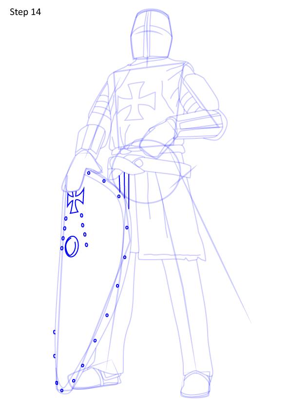 рисуем рыцаря 14