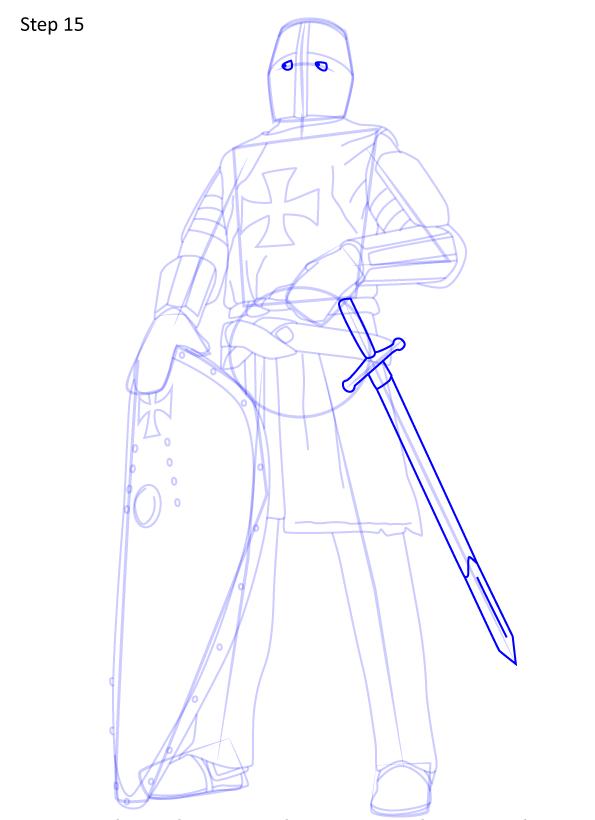 рисуем рыцаря 15