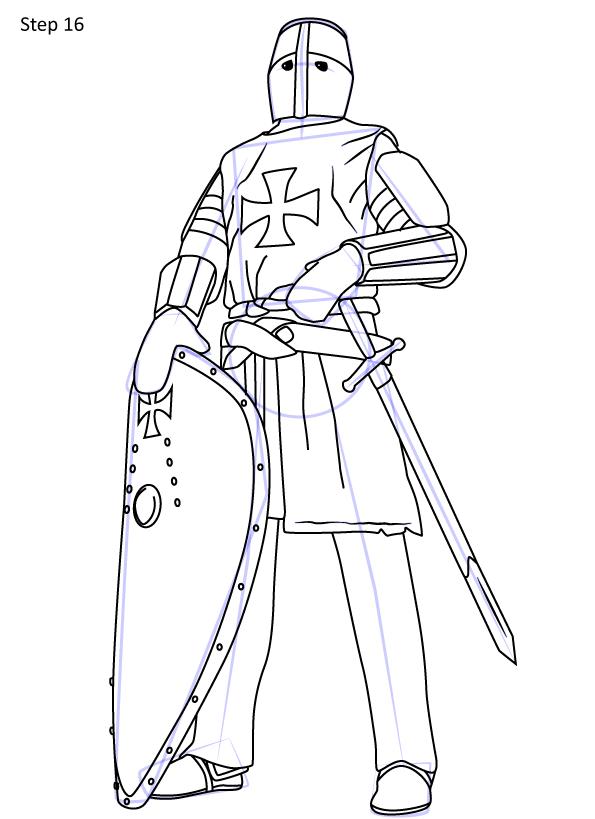 рисуем рыцаря 16