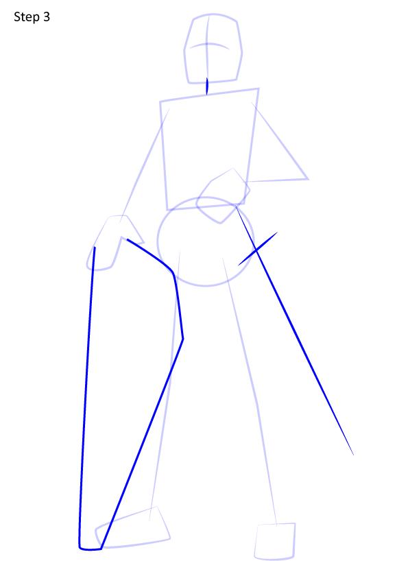 рисуем рыцаря 3