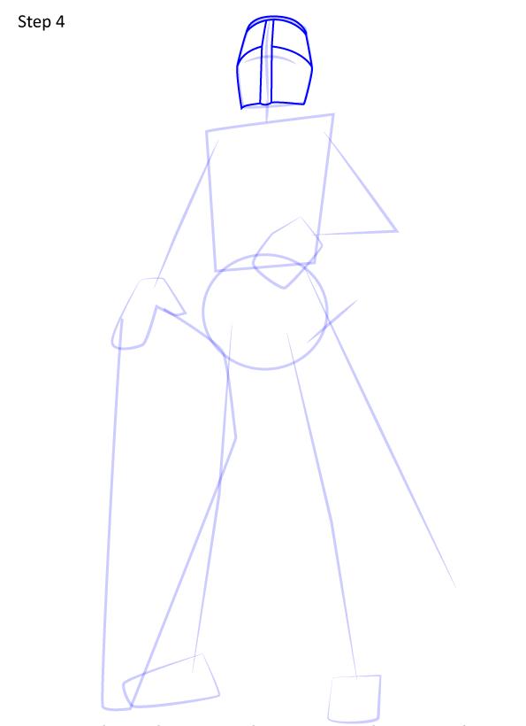 рисуем рыцаря 4