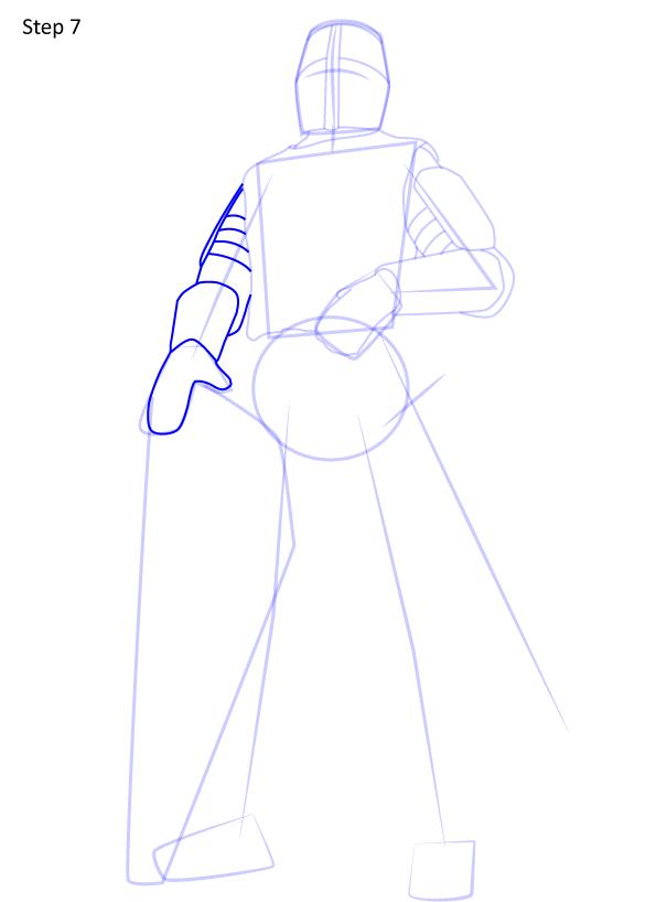 рисуем рыцаря 7