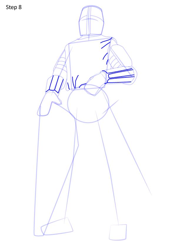 рисуем рыцаря 8