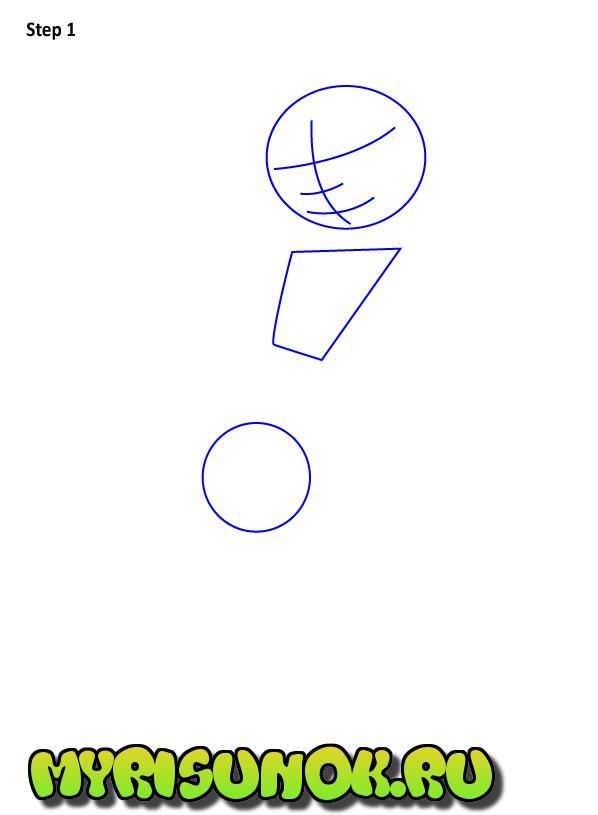 Как нарисовать Ким 5+1