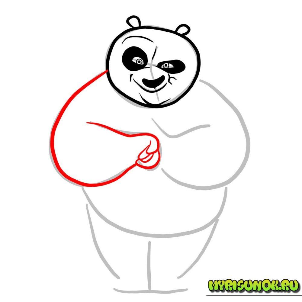 как нарисовать Кунгфу панду 4