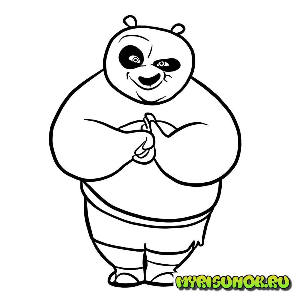 как нарисовать Кунгфу панду 9