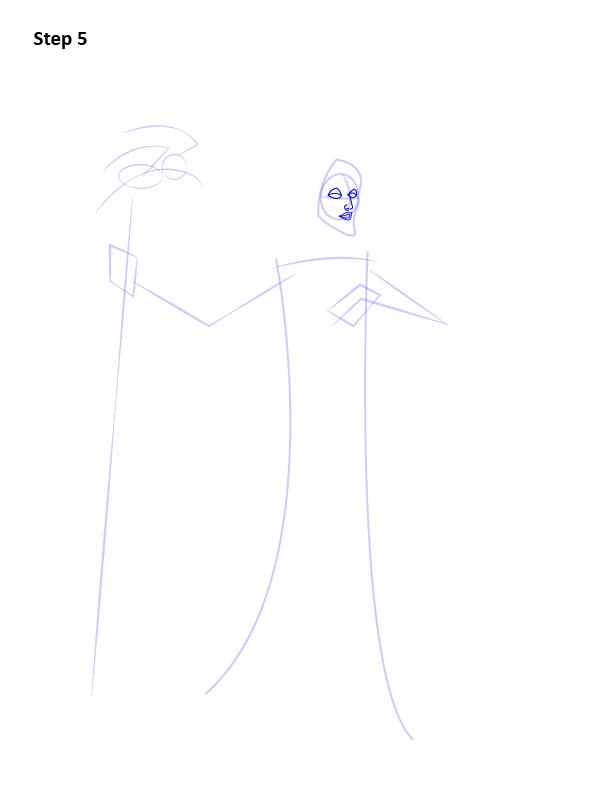 Как нарисовать Малефисенту 5