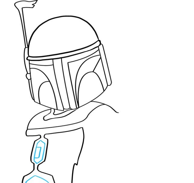 Как нарисовать Бобу Фетта 5