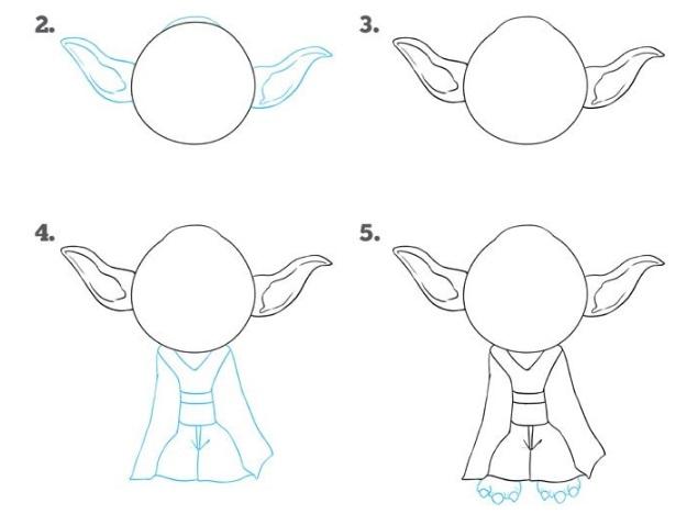 как нарисовать Йоду 2