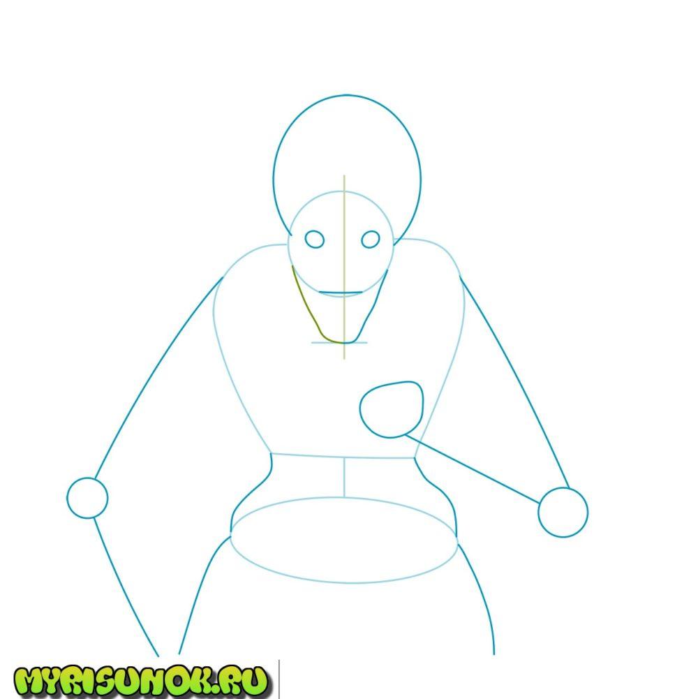 как нарисовать Рюка 2