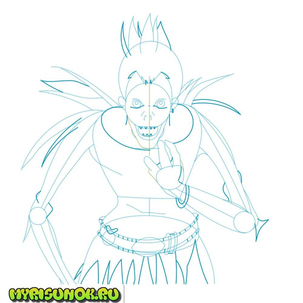 как нарисовать Рюка 5