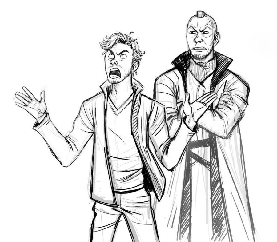 как срисовать Звездного лорда 17