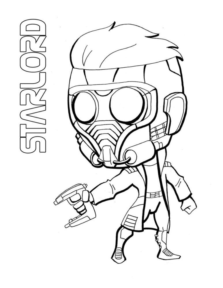 как срисовать Звездного лорда 7