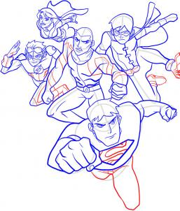 Как нарисовать Юную Лигу справедливости 10