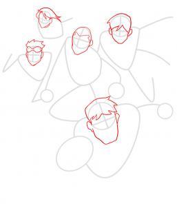 Как нарисовать Юную Лигу справедливости 5