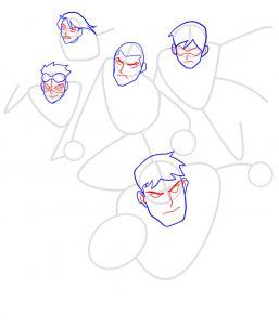 Как нарисовать Юную Лигу справедливости 6