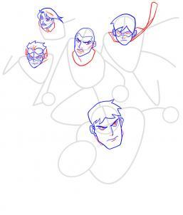 Как нарисовать Юную Лигу справедливости 7