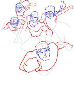 Как нарисовать Юную Лигу справедливости 8